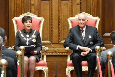 an image of Dame Patsy reading the speech from the throne