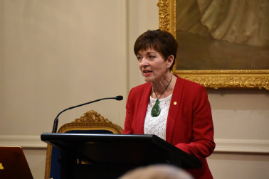 Image of Dame Patsy speaking at the WakaNZ presentation