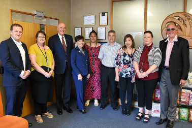 Dame Patsy with the Hubbards office staff