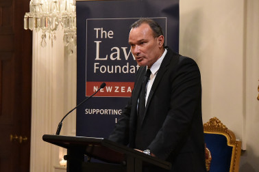 Image of Law Foundation trustee David Clark, who was MC for the evening