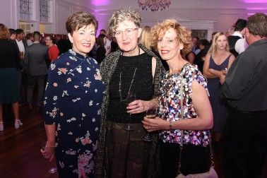Image of Dame Patsy with designer Liz Mitchell and Jayne Talbot