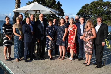 Image of uests at the dinner for the Chief of Navy, Rear Admiral John Martin at Paihia