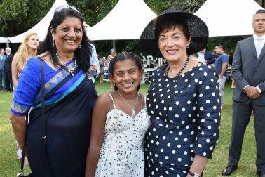 an image of Dame Patsy with Ranjna Patel and Mia Reddy