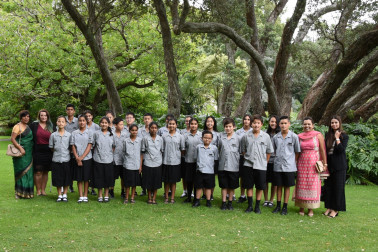 an image of Guests from Mission Heights Junior College