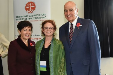 Their Excellencies with Catherine Iorns of Victoria University's School of Law