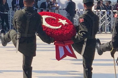 an image of Turkish soldiers at the Turkish International Ceremony