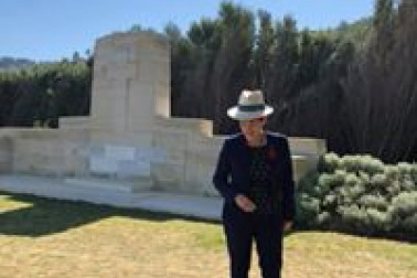an image of Dame Patsy at a Memorial to the Missing
