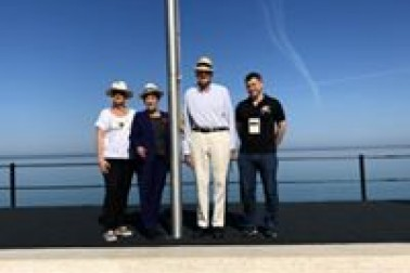 an image of Their Excellencies at Anzac Cove