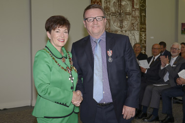 Image of Aiden Bennett and Dame Patsy Reddy