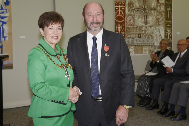 Image of Calven Bonney and Dame Patsy Reddy