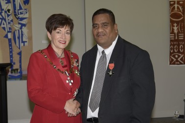 an image of Mr Charles Kiata, of Waitakere, Honorary MNZM for services to the Pacific community