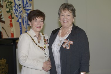Image of Diane Brown and Dame Patsy Reddy