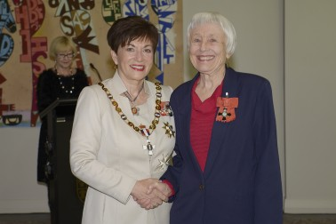 Image Dr Judy Blakey and Dame Patsy Reddy
