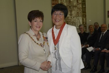 an image of Dr Bess Ip, of Auckland, CNZM for services to the Chinese community and education