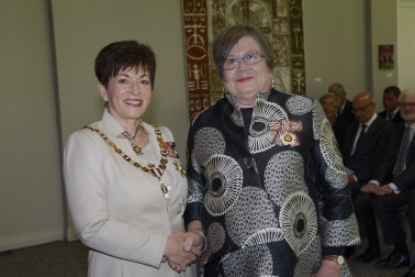 an image of Ms Evelyn Weir, of Hamilton, QSO, for services to seniors and the community
