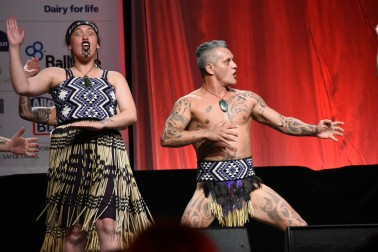 an image of Kapa haka at the awards dinner