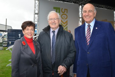 an image of Dame Patsy and Sir David with Jim Bolger