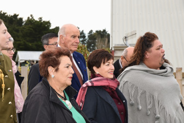 an image of Their Excellencies arriving at Ngati Moki Marae