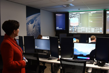 Image of Dame Patsy at Mission Control at Rocket Lab