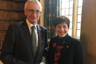 an image of Dame Patsy with Sir John Hood