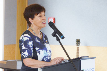 Image of Dame Patsy making her speech