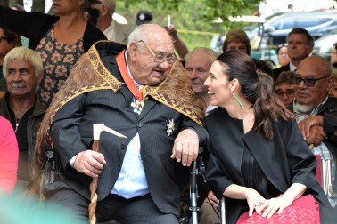 an image of Sir Hec Busby and The Rt Hon Jacinda Ardern