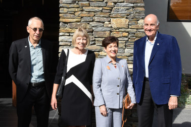 Image of Dame Patsy and Sir David with Festival of Colour Director, Philip Tremewan and Trustee, Hetty Van Hale