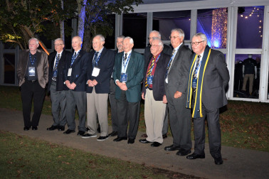 Old Boys from the 1930-1940 decade line up for a photo