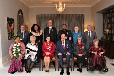 Their Excellencies and honours recipients