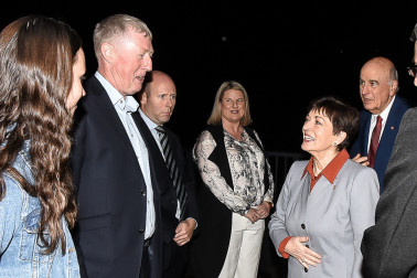 Image of Dame Patsy arriving at the new Mount Maunganui Surf Lifeguard headquarters