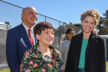 Sir David, Dame Patsy and HE Laura Clarke, British High Commissioner