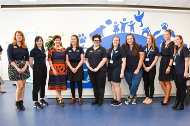 Dame Patsy with SPCA Hobsonville staff