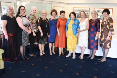 Image of Dame Patsy with the Zonta executive and foundation members