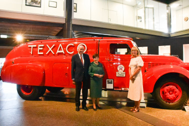 Their Excellencies with Jocelyn O'Donnell, Executive Director of Transport World