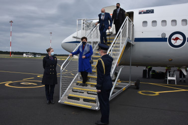 Image of Dame Patsy arriving in Hobart