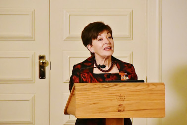 Image of the Governor-General of New Zealand speaking at the State Dinner