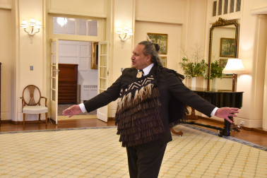 Image of the Kaumatua for the New Zealand High Commission, Isaac Cotter