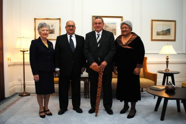 Māori King visits Government House.