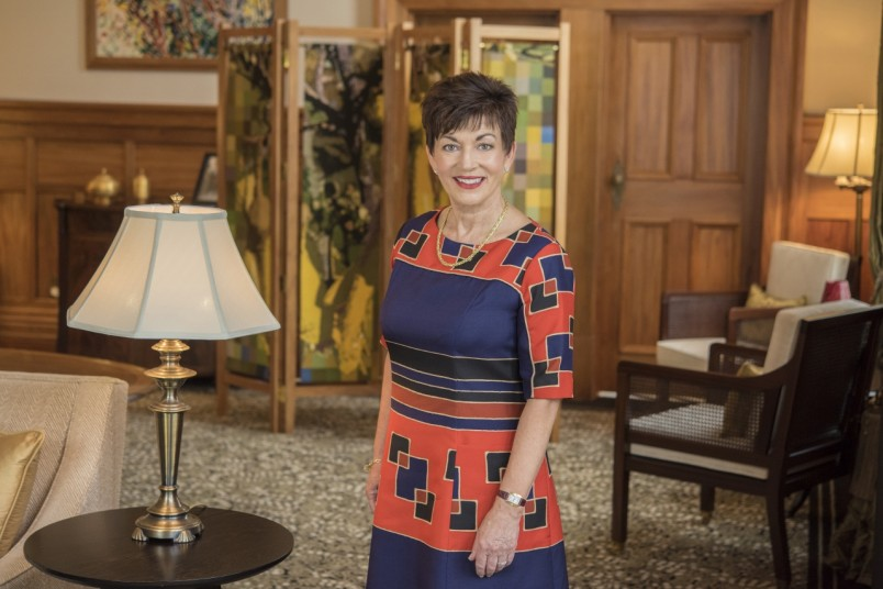 Image of Dame Patsy Reddy taken in the Liverpool Room at Government House in Wellington