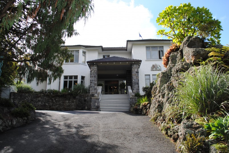 Image of the Main Entrance of Government House in Auckland