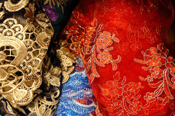 Image of other fabrics used in the production 'Romeo and Juliet'