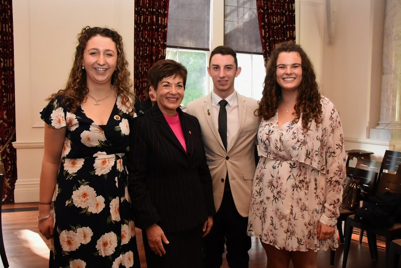 An image of Dame Patsy with award recipients