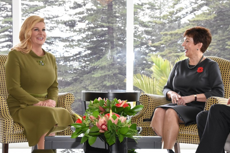 Image of Dame Patsy Reddy the President of the Republic of Croatia,Her Excellency Kolinda Grabar-Kitarovic