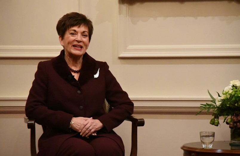Image of Dame Patsy Reddy speaking at the Women in Law forum at Government House in Wellington