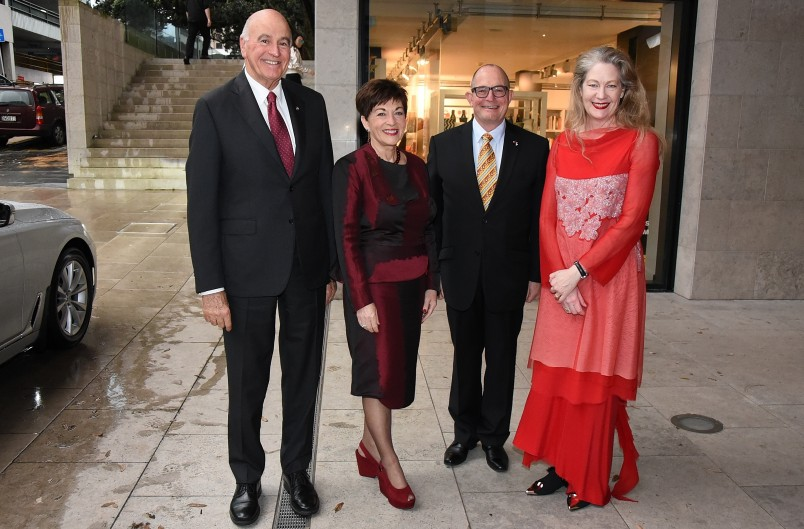 Images of Dame Patsy and Sir David arriving at the opening of The Corsini Collection at Auckland Art Gallery