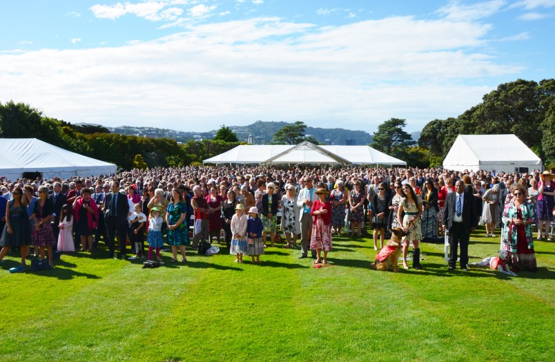 Image of the crowd at the Bledisloe Reception 2015 Government House Wellington