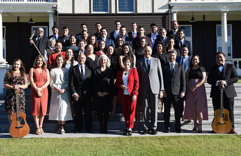 Image of the group on the terrace at Government House