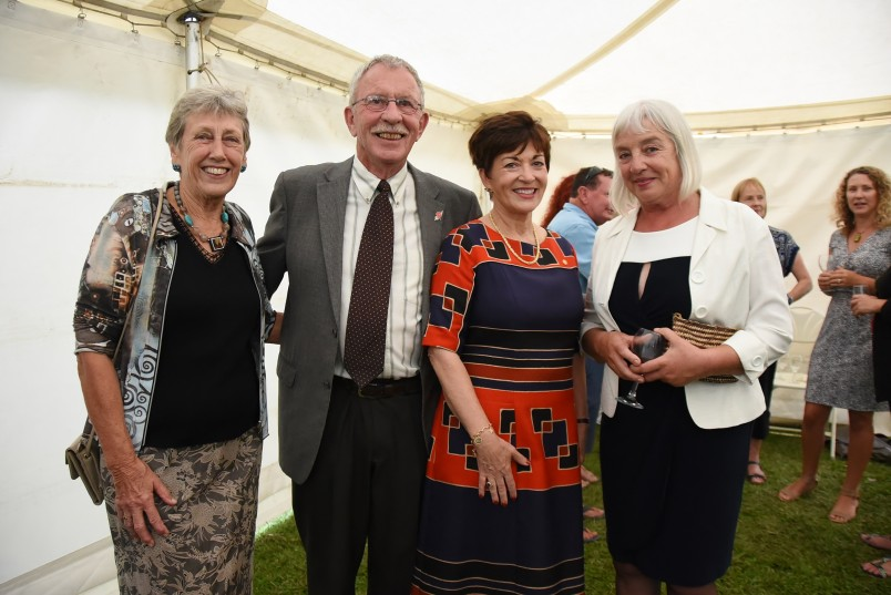 an image of Dame Patsy and guests at the reception