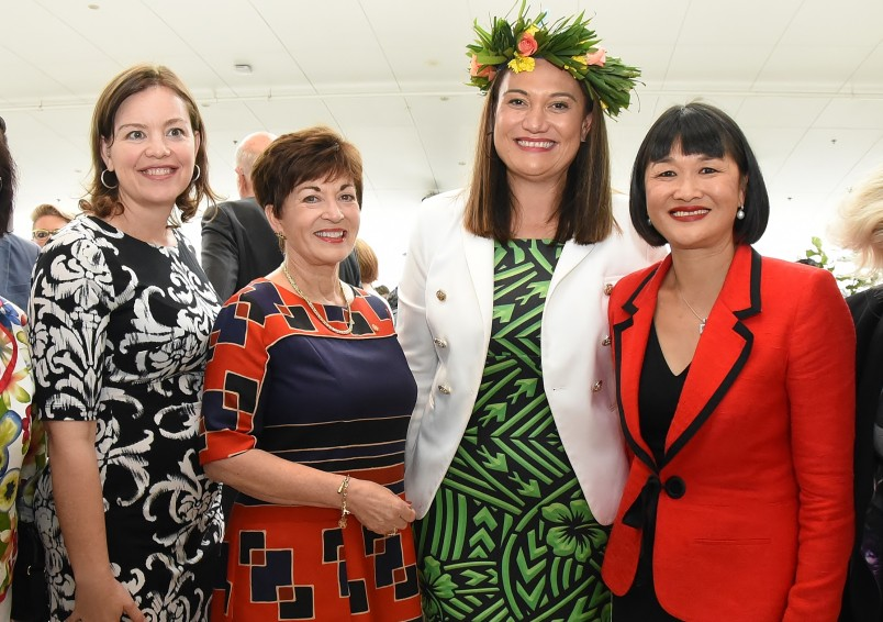 an image of Dame Patsy with Hon Julie Anne Genter, Hon Carmel Sepuloni and Mai Chen