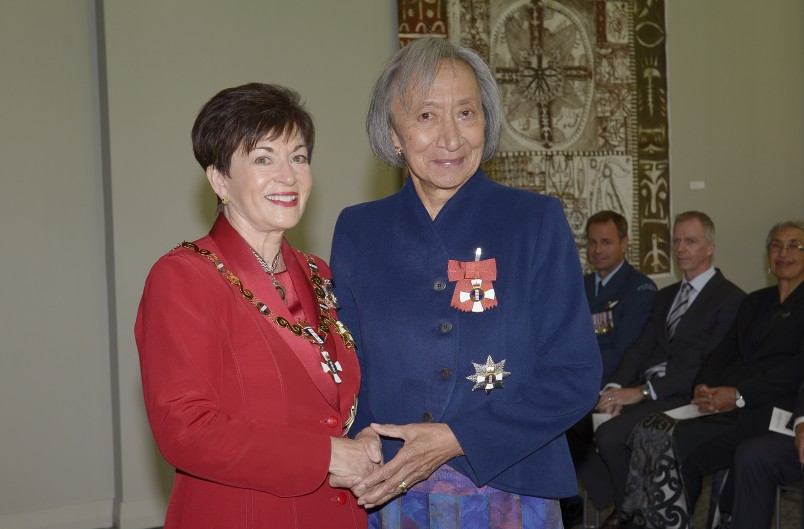 an image of Dame Georgina te Heuheu, DNZM for services to the State and Maori